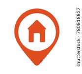 real estate red pin symbol | Shutterstock .eps vector #780818827