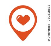 map pointer with heart icon.... | Shutterstock .eps vector #780818833