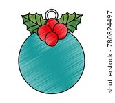 christmas ball hanging icon | Shutterstock .eps vector #780824497