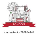 travel london poster with... | Shutterstock .eps vector #780826447