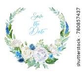 watercolor floral illustration  ... | Shutterstock . vector #780857437