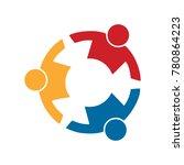 human together symbol | Shutterstock .eps vector #780864223