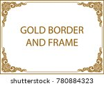 gold photo frame with corner... | Shutterstock .eps vector #780884323