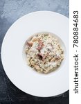 above view of risotto with...   Shutterstock . vector #780884683