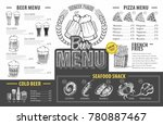 vintage beer menu design....   Shutterstock .eps vector #780887467