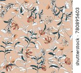 trendy  floral pattern in the... | Shutterstock .eps vector #780895603