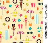 summer time seamless pattern.... | Shutterstock .eps vector #780899383