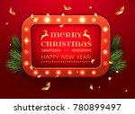 glowing christmas light banner...   Shutterstock .eps vector #780899497