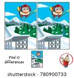 ski jumping. find 10...   Shutterstock .eps vector #780900733