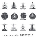 lighthouse vector marine... | Shutterstock .eps vector #780909013