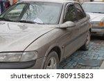 parking ticket placed under...   Shutterstock . vector #780915823