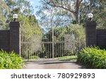 white metal driveway entrance... | Shutterstock . vector #780929893