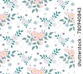 seamless floral pattern.... | Shutterstock .eps vector #780940843