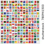 all vector square world flags... | Shutterstock .eps vector #780941503