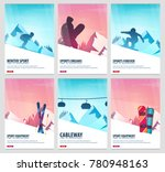 set banners of winter sport.... | Shutterstock .eps vector #780948163
