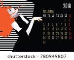 december. european calendar... | Shutterstock .eps vector #780949807