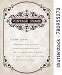 vintage frame with beautiful... | Shutterstock .eps vector #780955273