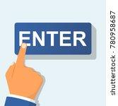 hand pressing enter button.... | Shutterstock .eps vector #780958687