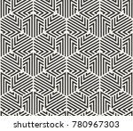 vector seamless lines pattern.... | Shutterstock .eps vector #780967303