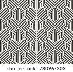 vector seamless lines pattern.... | Shutterstock .eps vector #780967303