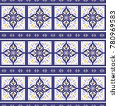 portuguese tile pattern vector... | Shutterstock .eps vector #780969583
