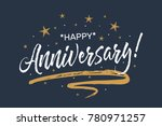 happy anniversary card.... | Shutterstock .eps vector #780971257