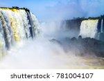 the world of raging water.... | Shutterstock . vector #781004107
