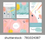 vector vintage template label... | Shutterstock .eps vector #781024387