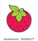 strawberry fruit logo | Shutterstock .eps vector #781026277