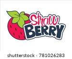 strawberry fruit logo | Shutterstock .eps vector #781026283
