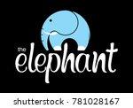 logo elephant and trunk | Shutterstock .eps vector #781028167