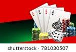 illustration online poker... | Shutterstock .eps vector #781030507