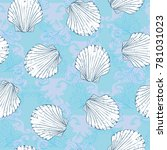 vector seamless pattern with... | Shutterstock .eps vector #781031023
