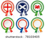 Rosettes To Represent The Rugb...