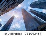 the skyscrapers in guangzhou... | Shutterstock . vector #781043467