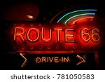 historic route 66. it is a... | Shutterstock . vector #781050583