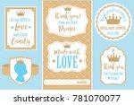 set of vector vintage frames.... | Shutterstock .eps vector #781070077