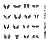 freedom wings emblems set.... | Shutterstock . vector #781075627