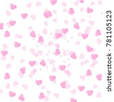 pink heart on a white... | Shutterstock .eps vector #781105123