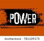 tire tracks lettering. more...   Shutterstock .eps vector #781109173