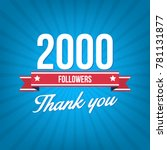 2000 followers vector... | Shutterstock .eps vector #781131877
