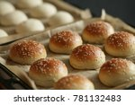 the homemade bread rolls with... | Shutterstock . vector #781132483