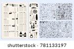 vector restaurant brochure ... | Shutterstock .eps vector #781133197