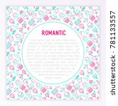 romantic concept with thin line ... | Shutterstock .eps vector #781133557