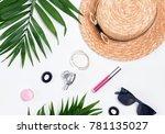 summer feminine accessories on...   Shutterstock . vector #781135027