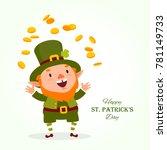 st.patrick 's day. leprechaun ... | Shutterstock .eps vector #781149733