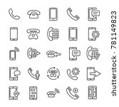 set of premium phone icons in... | Shutterstock .eps vector #781149823