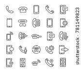 Set Of Premium Phone Icons In...
