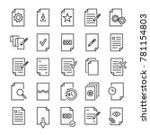 set of premium document icons... | Shutterstock .eps vector #781154803