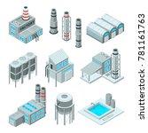 set of industrial or factory... | Shutterstock .eps vector #781161763
